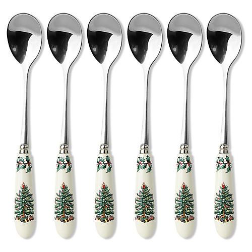 S/6 Teaspoons, Christmas Tree