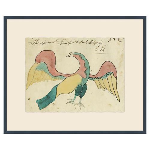 Mennonite Ledger Drawing, American Eagle