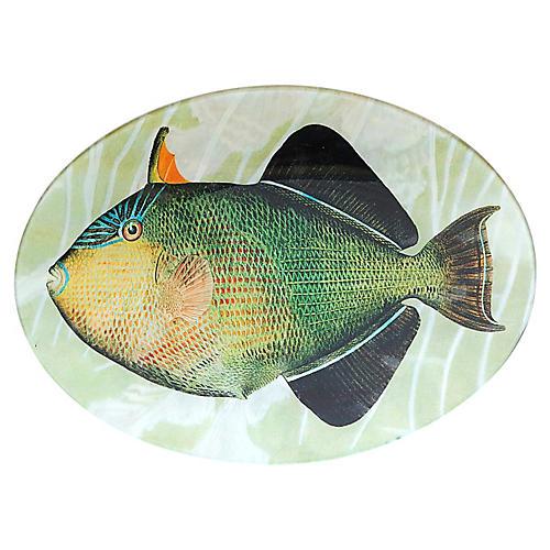 Tropical Fish Decoupage Plate I