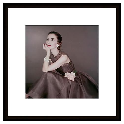 Glamour Magazine, Pearls, 1954