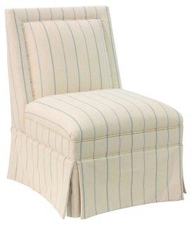 Superior Greer Skirted Slipper Chair, Pommes   One Kings Lane   Brands | One Kings  Lane