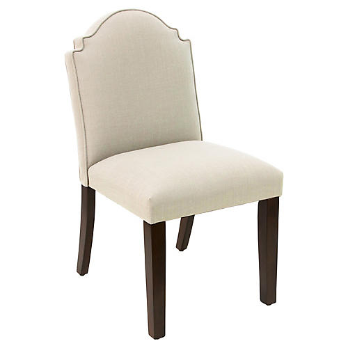 Elloree Side Chair, Talc Linen