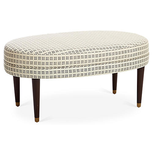 Perris Oval Cocktail Ottoman, Window Dot