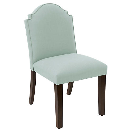 Elloree Side Chair, Mint Linen