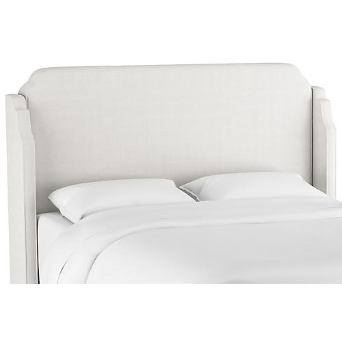 Aurora Wingback Headboard, White