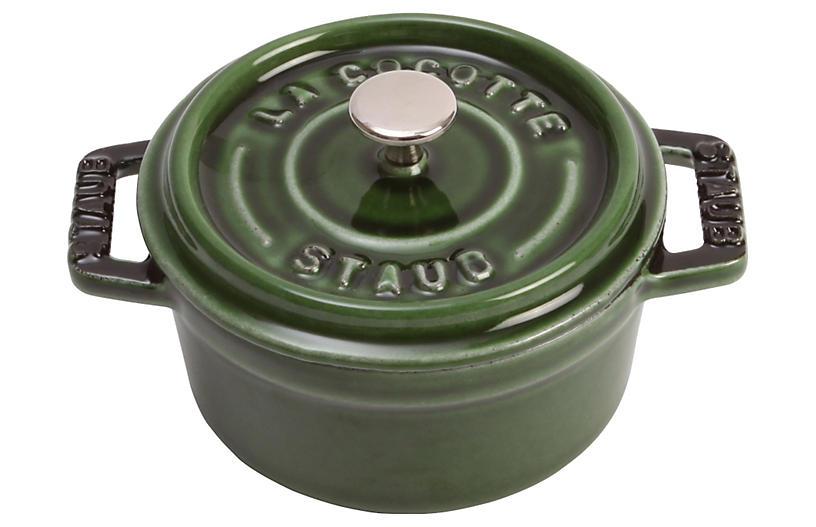 .25 qt Mini Round Cocotte, Green