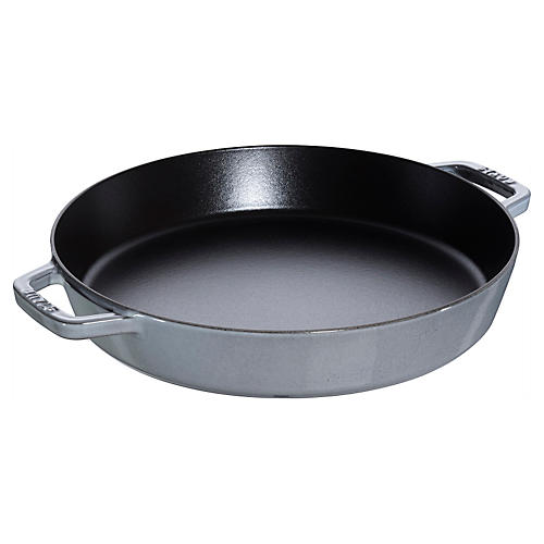 "13"" Double Handle Fry Pan, Graphite"