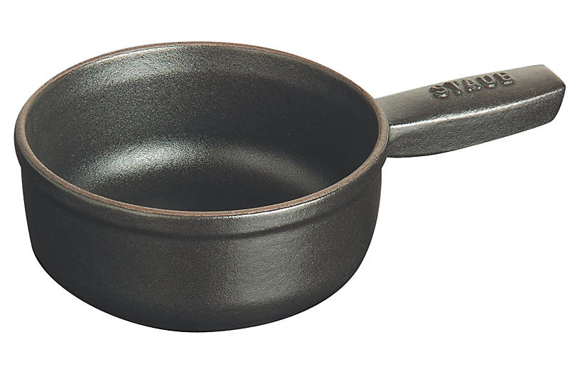 Mini Cheese Fondue Pot, Black