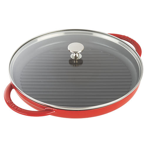 "12"" Round Steam Grill, Cherry"