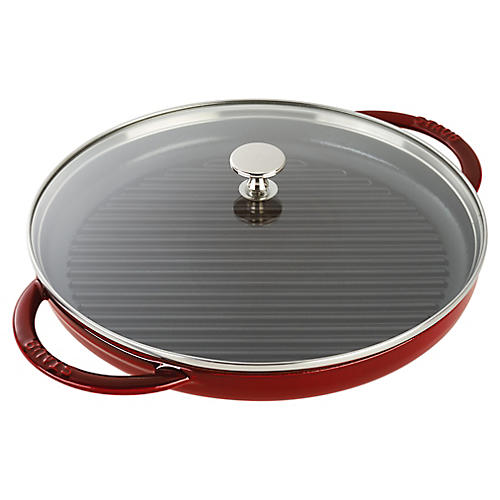 "10.5"" Round Steam Grill, Grenadine"
