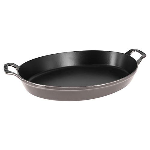 4-Qt Oval Baking Dish, Gray