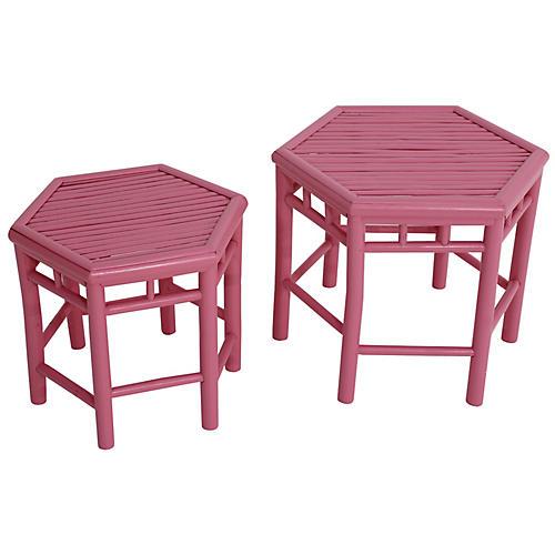 Asst. of 2 Onesta Nesting Tables, Pink