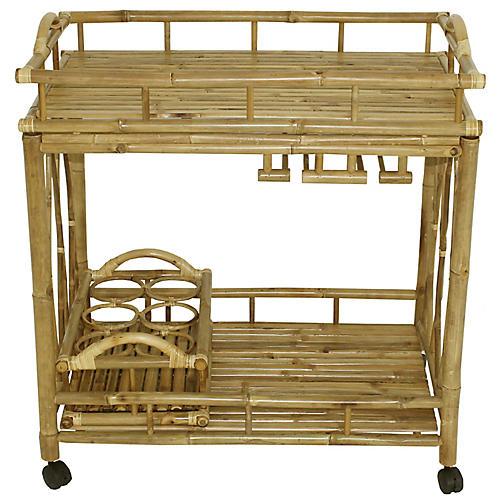 Bamboo Bar Cart, Natural