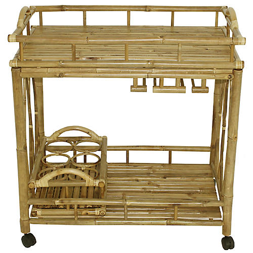 Bamboo Bar Cart, Natural