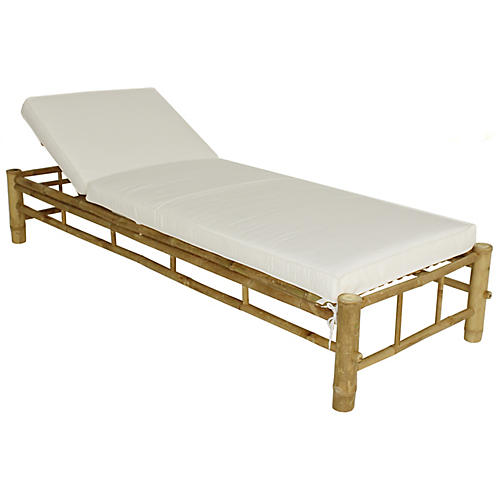 Loungera Chaise, Natural/White