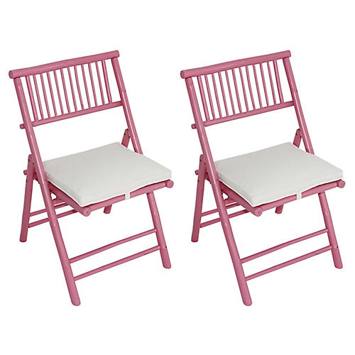 S/2 Champion Side Chairs, Pink