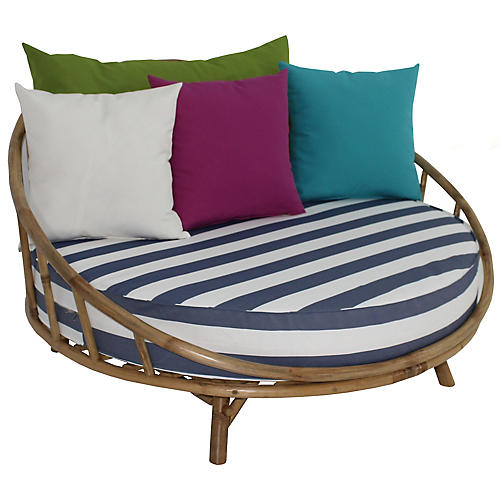 Rattana Daybed, Natural/Blue