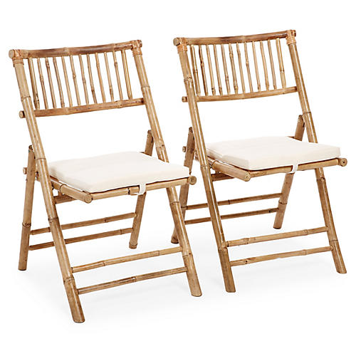 S/2 Champion Side Chairs, Natural/White