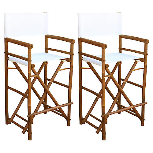 S/2 Director's Chairs, White