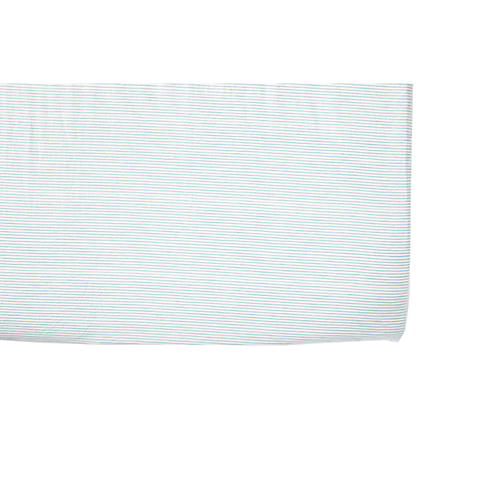 Pencil Stripe Baby Crib Sheet, Blue