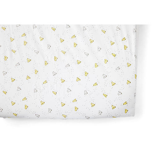 Chick Baby Crib Sheet, Soft Yellow