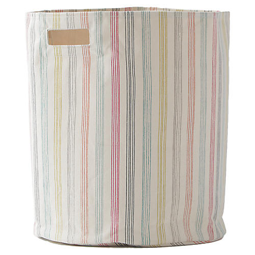 Rainbow Stripe Kids' Hamper, Beige/Multi