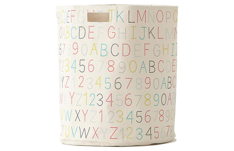 Alphabet Kids' Hamper, Beige/Multi