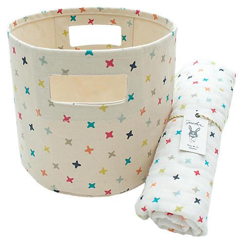 Rainbow Jacks Baby Gift Set, Beige/Multi