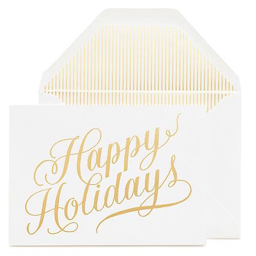 S/6 Happy Holidays Greeting Cards