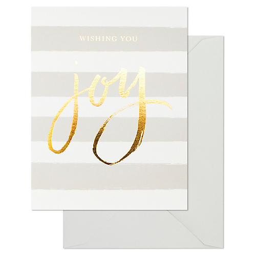 S/6 Joy Greeting Cards