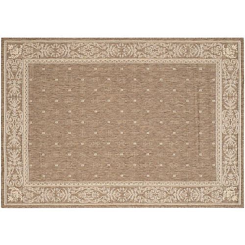 Court Outdoor Rug, Brown/Natural