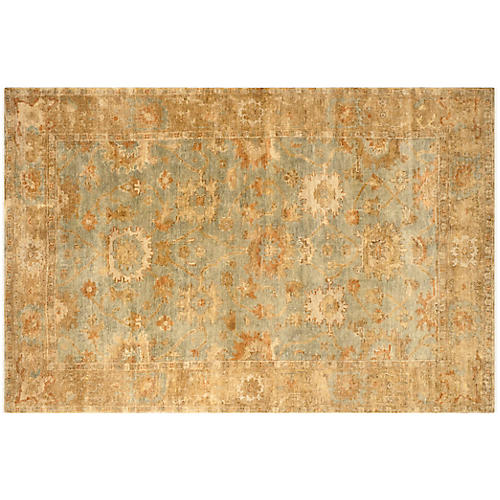 Mariel Oushak Rug, Green/Brown