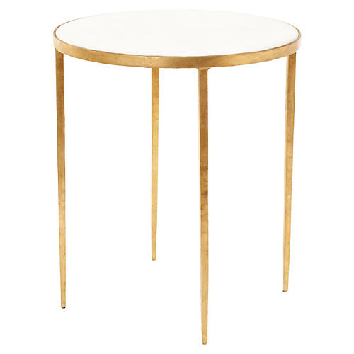 Kast Granite Side Table, Gold