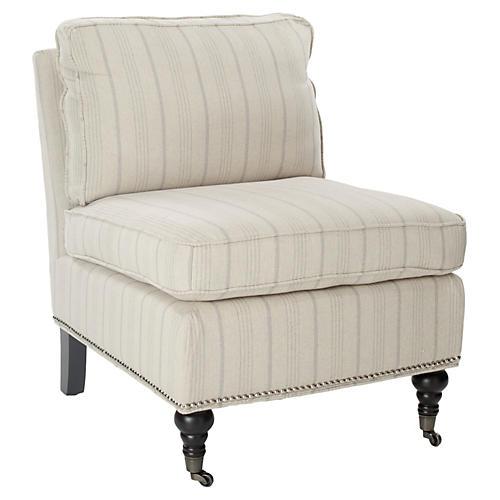 Collette Accent Chair, Cream Linen