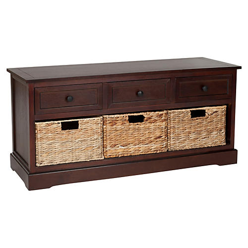 Arlington 3-Drawer Storage Unit, Cherry
