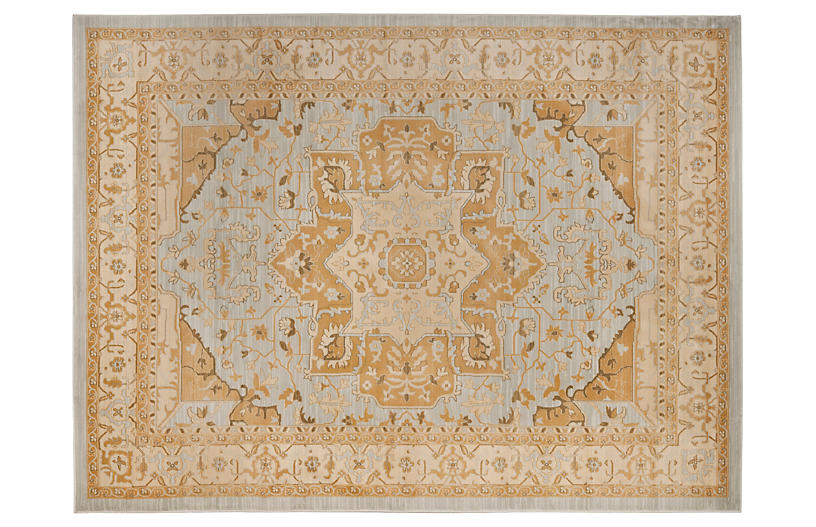 Bruna Rug - Light Gray/Gold - 2'6