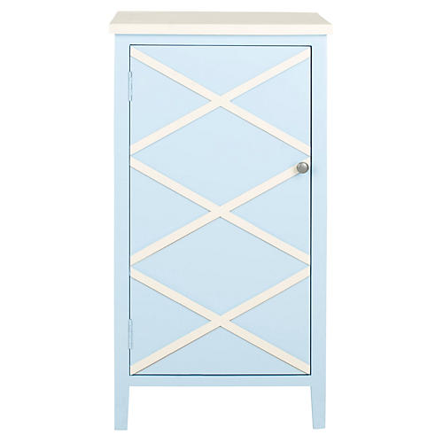 Sawyer Cabinet, Light Blue/White