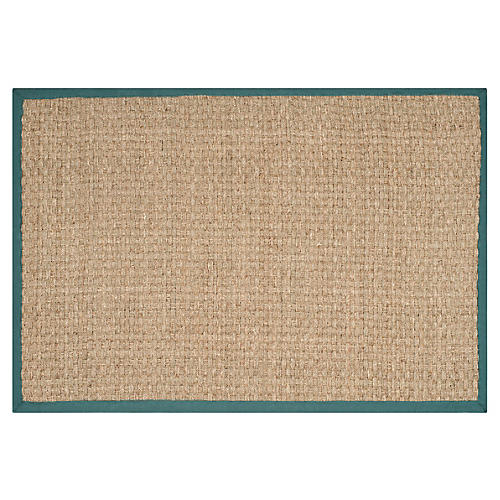 Malcom Sea-Grass Rug, Teal
