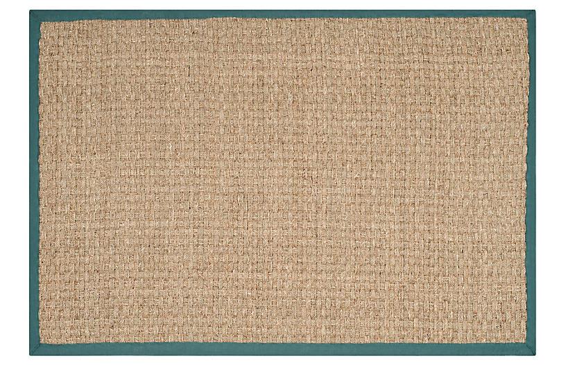 Malcom Sea-Grass Rug, Teal