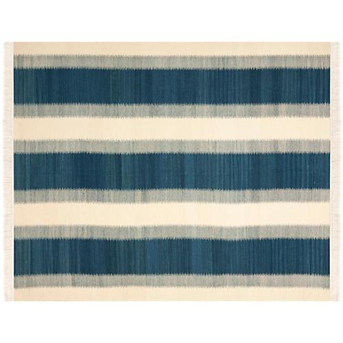 Cylas Kilim, Blue/Ivory