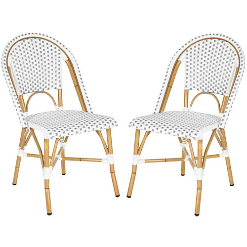 Gray Odeon Bistro Side Chairs, Pair