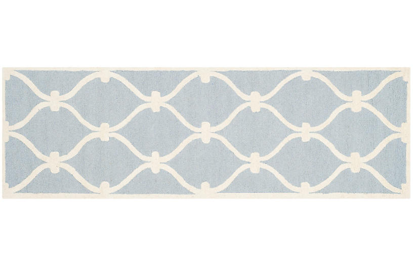Chaz Rug Blue Ivory Contemporary Rugs By Style Rugs