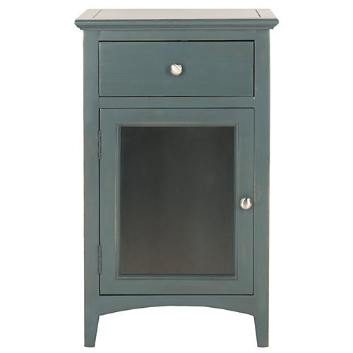 Freya Nightstand, Dark Teal