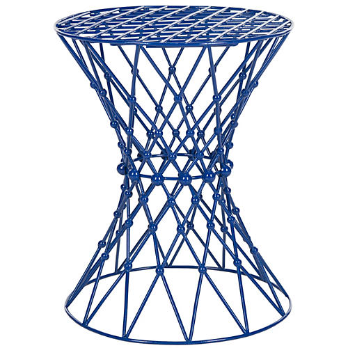Addison Wire Stool, Blue