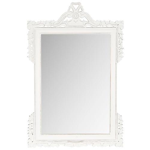"""Kaufman 31""""x47"""" Oversize Mirror, White"""