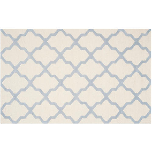 Mulberry Rug, Ivory/Blue
