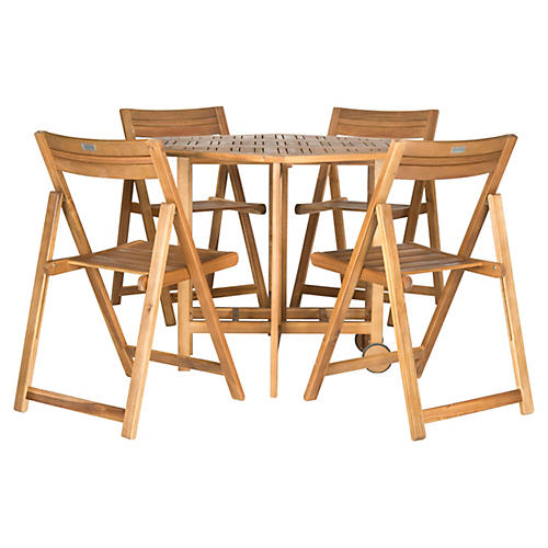 Outdoor Lacy Table w/ Chairs, Teak