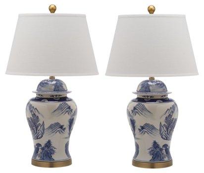 S 2 Shanghai Table Lamps Blue White One Kings Lane,Baby Shower Flower Arrangements