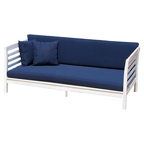 Sandy Daybed, White/Navy