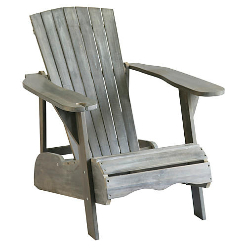 Outdoor Crosby Adirondack Chair, Gray